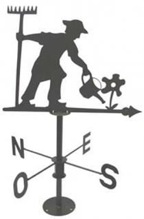 "Wetterfahne ""Kleingärtner"",aus stabilem Stahl,H x B: 70 x 46 cm"