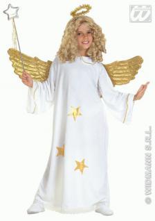 Star Engel Kinder Kostüm mit Heiligenschein Gr. 128 - Kleid Mädchen