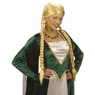 blonde Mittelalter Zopf Perücke Märchen Prinzessin