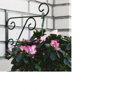 Wandhalter classic schwarz l 29cm kaufen bei for Pflanzen wandhalter