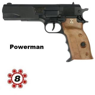 Powerman 8-Schuss Ring Muniton Knall-Pistole Kinder Spielzeug Agent Revolver