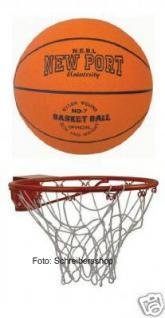 Basketballkorb mit Netz und Ball