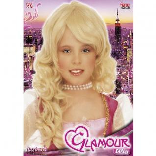 BLONDE KINDER PERÜCKE Mädchen Prinzessin Kostüm Zubehör Karneval #b6291