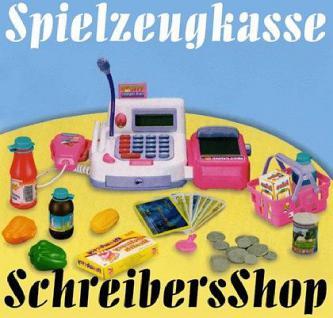 Kaufladen Kasse mit Scanner Scannerkasse