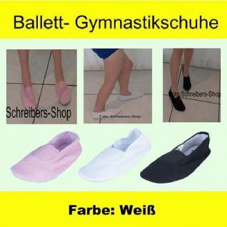 Ballettschuhe Gymnastikschuhe Turnschuhe weiß