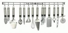 Edelstahl Küchenhelfer-Set Hängeleiste 13 teilig