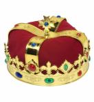 Königskrone Krone mit Edelsteinen Kostüm König Karneval Kostümzubehör