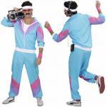 Trainingsanzug 80er Herren S (48) Jogginganzug Hose Jacke Kostüm Sport Party