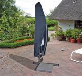 Schutzhülle Anthrazit Hülle Abdeckung für Ampelschirm 300 cm