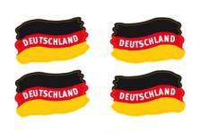 4er Set Deutschland Fan Tattoo Fußball Party Flaggen Gesicht abwaschbar