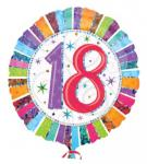 Folienballon Zahl 18 Heliumballon 45cm Ballon - Geburtstag Party Deko