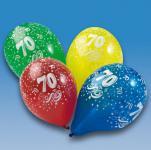 LUFTBALLONS ZAHL 70 Geburtstag Party Deko bunt