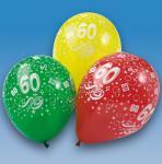 LUFTBALLONS ZAHL 60 Geburtstag Party Deko bunt