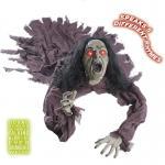 SPRECHENDE HEXE MIT LEUCHTENDEN AUGEN tonaktivierend- 160 cm Halloween Deko