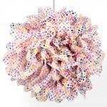 POMPON einzeln Papier-Blume Ø 30 cm bunt bedruckt