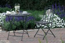 Deko Stuhl Gartenstuhl aus Eisen