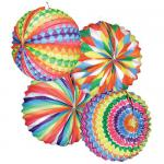 12 Stk Lampion bunter Ballon, rund, Ø 22 cm,