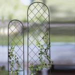 SPALIER 150 x 30cm Braun Metall Rankgitter Rankhilfe