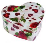 Geschenkschachtel Geschenkbox als Herz Geschenk Karton Deko Schachtel Box Rosen