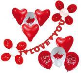 Partykette I LOVE YOU Liebe Herz Girlande Deko Verlobung Herz Ballons