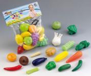 Kinder Kaufladen Gemüse und Obst 17-tlg Zubehör