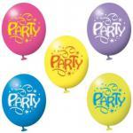 6 Luftballons Ballon Party Kindergeburtstag Deko Luftballon Luftschlangen