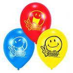 6 Luftballons SMILEY COMIC - Kinder Party, Kindergeburtstag, Deko