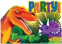 6 Einladungskarten Dinosaurier Dinos, Kindergeburtstag Party Geburtstag