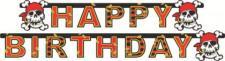 Partykette Happy Birthday, Piraten Party, Kindergeburtstag, jolly roger,