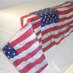 1 Papier Tischdecke 137 x 259 cm USA Party Dekoration