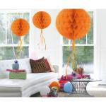 1 Honig Wabenball 30 cm Farbe: orange Party Deko