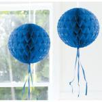 1 Honig Wabenball 30 cm Farbe: dunkel blau Party Deko