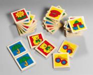 Kleinkinder Babyspielzeug erstes Memo aus Holz 32-tlg Gedächtnistraining Legekartenspiel