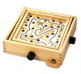 Holzlabyrinth zum Spielen Geschicklichkeitsspiel