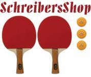 2er Set Tischtennisschläger + 3 Bälle - 3 Sterne