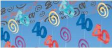 Girlande 365 x 30, 5cm, 40.Geburtstag, Wand-Deko, Deckengirlande
