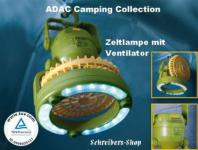 ADAC CAMPING CAMPINGLAMPE ZELTLAMPE MIT VENTILATOR