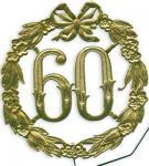Jubiläums Zahl 60 Gold 13 cm Geburtstag