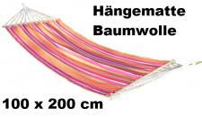 Hängematte bunt gestreift 200x100 cm bis ca. 120kg Hängeliege