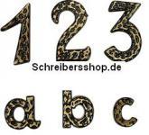 """Hausnummer aus Messing """"schwarz"""", massiv"""
