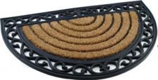 """Fußmatte """"Orient Natur"""", halbrund, L x B x H: 75 x 45 x 2 cm"""