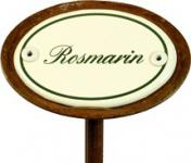 "Kräuterschild ""Rosmarin"", wetterfest, Einbrand"