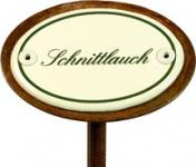 """Kräuterschild """"Schnittlauch"""", wetterfest, Einbrand"""