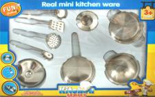 Kinder Topfset aus Metall 9-tlg Küchenzubehör Geschirr