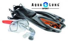 Aqualung Tauchset Proflex Pro Adj S-M, 36-40, Flossen, Schnorchel, Brille