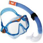 Aqualung Combo Mix / Reef DX - BLAU - hochwertiges Kinder Masken Schnorchel Set