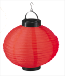 Solar China Lampion rund 20cm rot Lampe Laterne Garten Party
