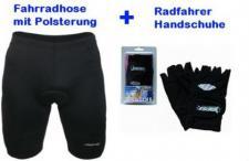 Set Radlerhose & Fahrradhandschuhe Größen: S / M / L / XL
