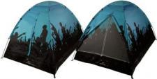 Festivalzelt - 2 Mann / Personen Camping Zelt für Festivals Farbe:blau