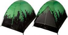 Festivalzelt - 2 Mann / Personen Camping Zelt für Festivals Farbe: grün